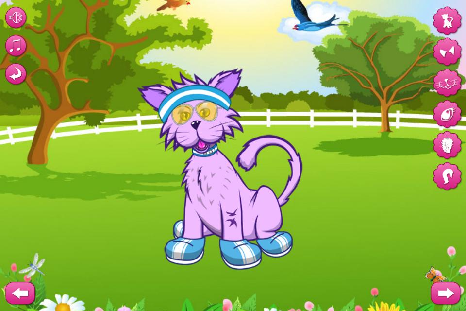 小猫简笔画大全带颜色